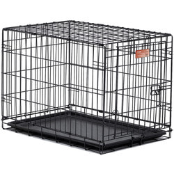 """MidWest Клетка iCrate Single door 30"""" однодверная для мелких собак и кошек, черная"""