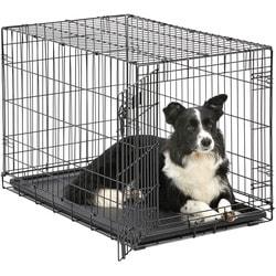 """MidWest Клетка для щенков и средних собак iCrate Single door 36"""" однодверная, черная"""