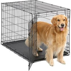 """MidWest Клетка iCrate Single door 42"""" однодверная для щенков и больших собак, черная"""