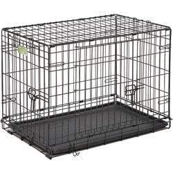 "MidWest Клетка для мелких собак и кошек iCrate Double Door 30"" двухдверная, черная"