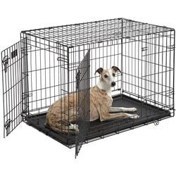 """MidWest Клетка iCrate Double Door 36"""" двухдверная для щенков и средних собак, черная"""