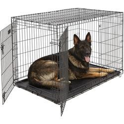 """MidWest Клетка для крупных собак iCrate Double Door 48"""" двухдверная, черная"""