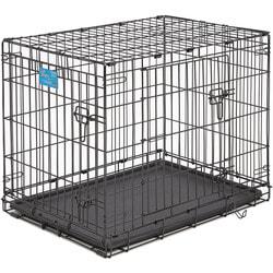 """MidWest Клетка Life Stages Double Door 30"""" двухдверная для мелких собак и кошек, черная"""