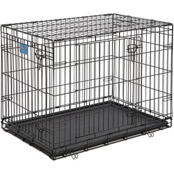 """MidWest Клетка Life Stages Double Door 36"""" двухдверная для щенков и средних собак, черная"""