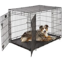 """MidWest Клетка Life Stages Double Door 42"""" двухдверная для щенков и больших собак, черная"""