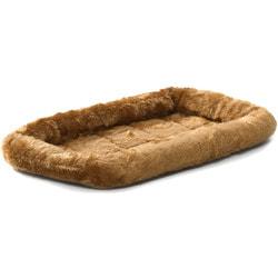 MidWest Лежанка меховая Quiet Time Cinnamon коричневая для собак