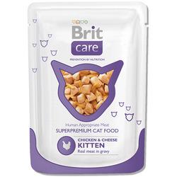 Brit Care Cat Pouches Chicken & Cheese Kitten паучи для котят курица с сыром