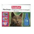 BEAPHAR Flea Drops cat - Капли для кошек от блох и клещей с 6-ти месяцев