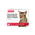 BEAPHAR Flea Drops cat - Капли для кошек от блох и клещей