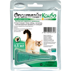 Boehringer Ingelheim Фронтлайн Комбо для кошек и хорьков – для защиты от клещей, блох в форме капель