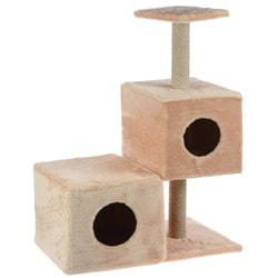 Smartpet Игровой комплекс для кошек с двумя домиками 66х36х94см