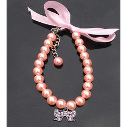 DooKiipet Ожерелье-украшение Бусы розовые для собак