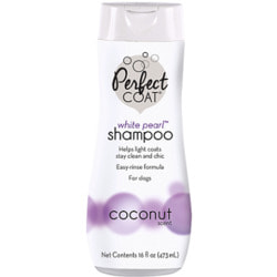 8 in 1 Perfect Coat White Pearl шампунь-кондиционер для собак светлых окрасов с ароматом кокоса