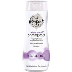 8in1 Perfect Coat White Pearl шампунь-кондиционер для собак светлых окрасов с ароматом кокоса