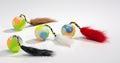 Beeztees Игрушка для кошек Мяч пластмассовый с хвостом