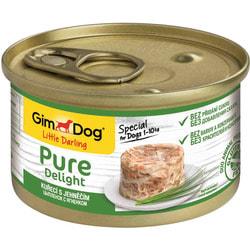 Консервы Gimpet Pure Delight для собак из цыпленка с ягненком в желе