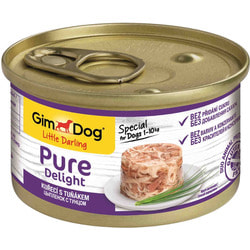 Консервы Gimpet Pure Delight для собак из цыпленка с тунцом в желе
