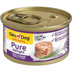 Консервы GimDog Pure Delight для собак из цыпленка с тунцом в желе
