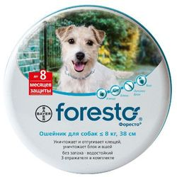 Bayer Ошейник Форесто для мелких и средних собак от блох и клещей