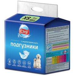 Cliny Подгузники для собак и кошек XS 2-4кг