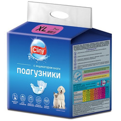 Cliny Подгузники для собак и кошек XL 15-30кг