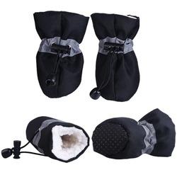 4 My Pets Ботиночки-носочки на меху для собак с фиксатором