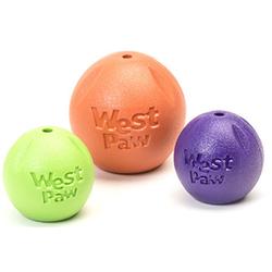 West Paw Игрушка для собак мячик Zogoflex Rando 9см