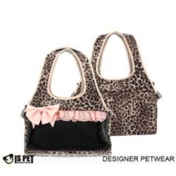 IS Pet Сумка-переноска для маленьких собак Леопард