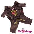 ForMyDogs Дождевик для девочек коричневый
