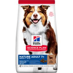 Сухой корм HILL'S Science Plan для собак средних пород старшего возраста с ягненком и рисом