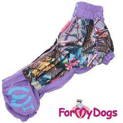 ForMyDogs Дождевик для таксы фиолетовый девочка