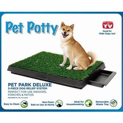 Pet Zoom Туалет для собак Pet Potty Park Deluxe с искусственной травкой, выдвижной лоток
