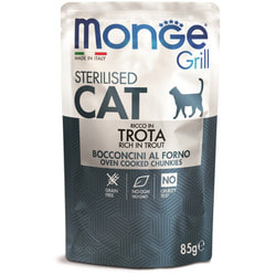 Monge Cat Grill Pouch паучи для стерилизованных кошек итальянская форель