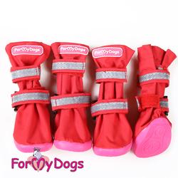 ForMyDogs Сапоги для большой лапы Высокие красные на резиновой подошве