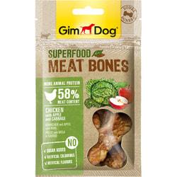 GimDog Лакомство для собак Мясные Косточки Суперфуд из курицы с яблоком и капустой