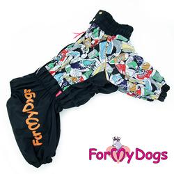 ForMyDogs Дождевик на крупные породы собак Кеды мальчик