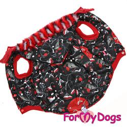 ForMyDogs Куртка с капюшоном для собак Снегири