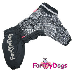 ForMyDogs Комбинезон для больших собак Черный, мальчик