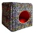 Зооэкспресс Домик Куб-трансформер поплин+плюш для животных