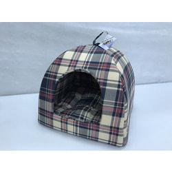 Бобровый дворик Домик для собак и кошек Шотландка серо-голубая