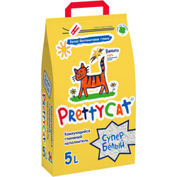 PrettyCat Наполнитель для кошачьего туалета Cупер белый с ванилью