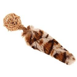 GiGwi Игрушка для кошек плетеный мячик с хвостом