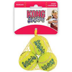 """Kong Игрушка для собак Air """"Теннисный мяч"""" 3шт в упаковке"""