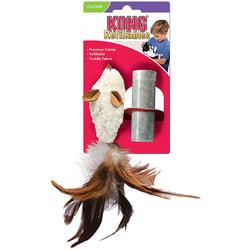 """Kong Игрушка для кошек """"Мышь полевка, с перьями"""" кошачья мята"""