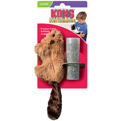 """Kong Игрушка для кошек """"Бобер"""", плюш и кошачья мята"""