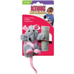 """Kong Игрушка для кошек """"Крыса"""" плюш и кошачья мята"""