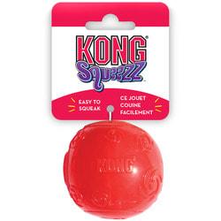 Kong Игрушка для собак Сквиз Мячик, резиновый с пищалкой