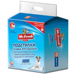 Mr.Fresh Одноразовые впитывающие пеленки Regular для собак 40х60см