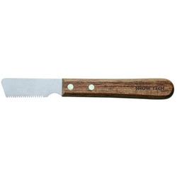 Show Tech Тримминговочный нож 3240 с деревянной ручкой для жесткой шерсти