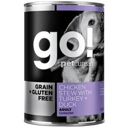 Go! Natural Holistic Консервы беззерновые для собак с тушеной курицей, индейкой и мясом утки, Grain Free Chicken Stew with Turkey + Duck